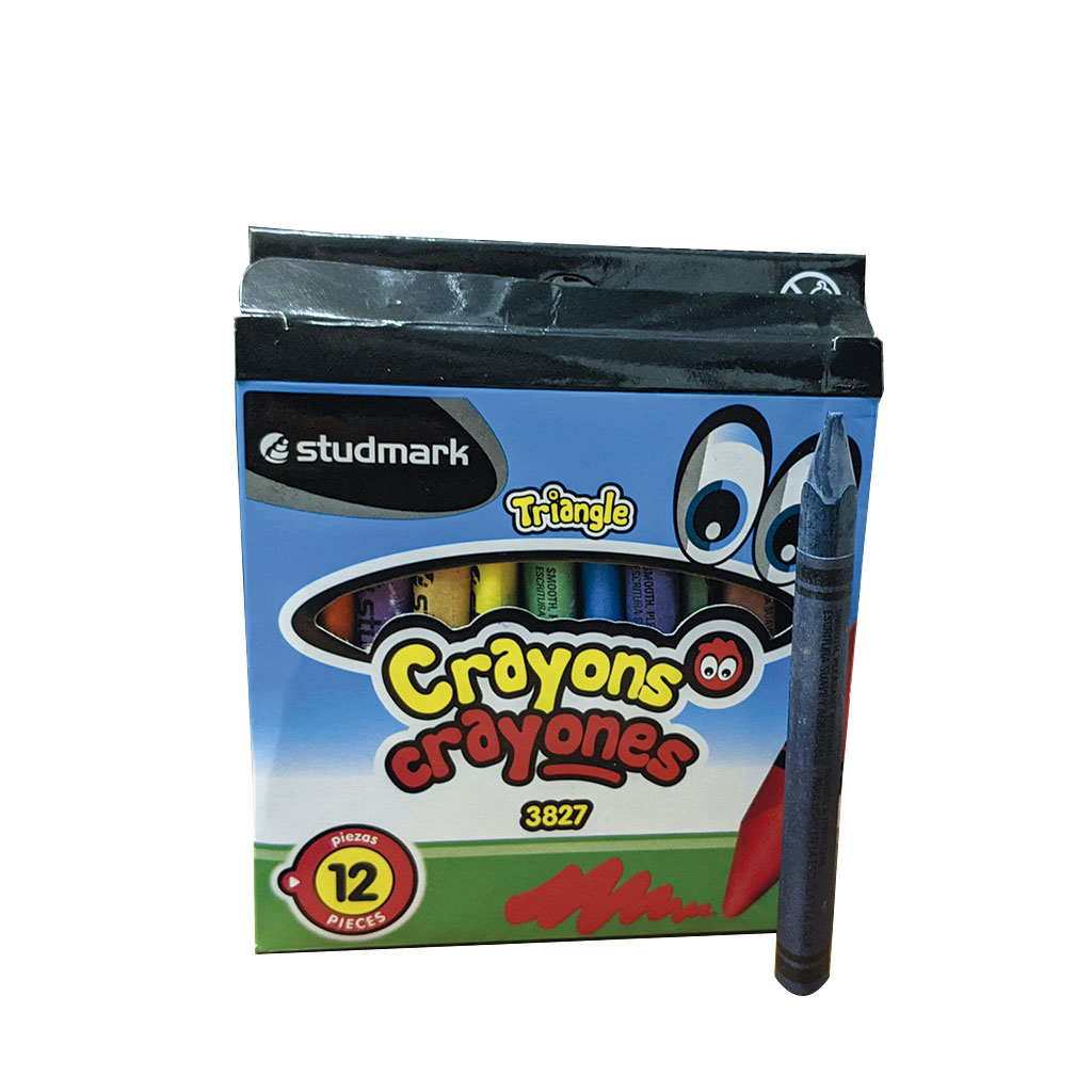 CRAYONES 12 COLORES TRIANGULARES ST-03827