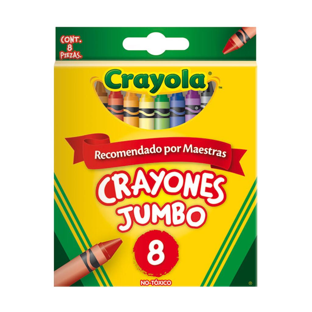 CRAYONES 8 COLORES JUMBO 52-0038