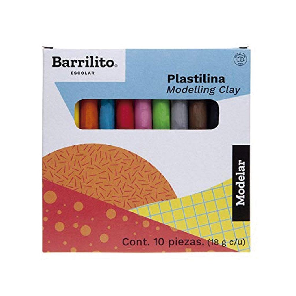 PLASTILINA 10 COL. MIX180
