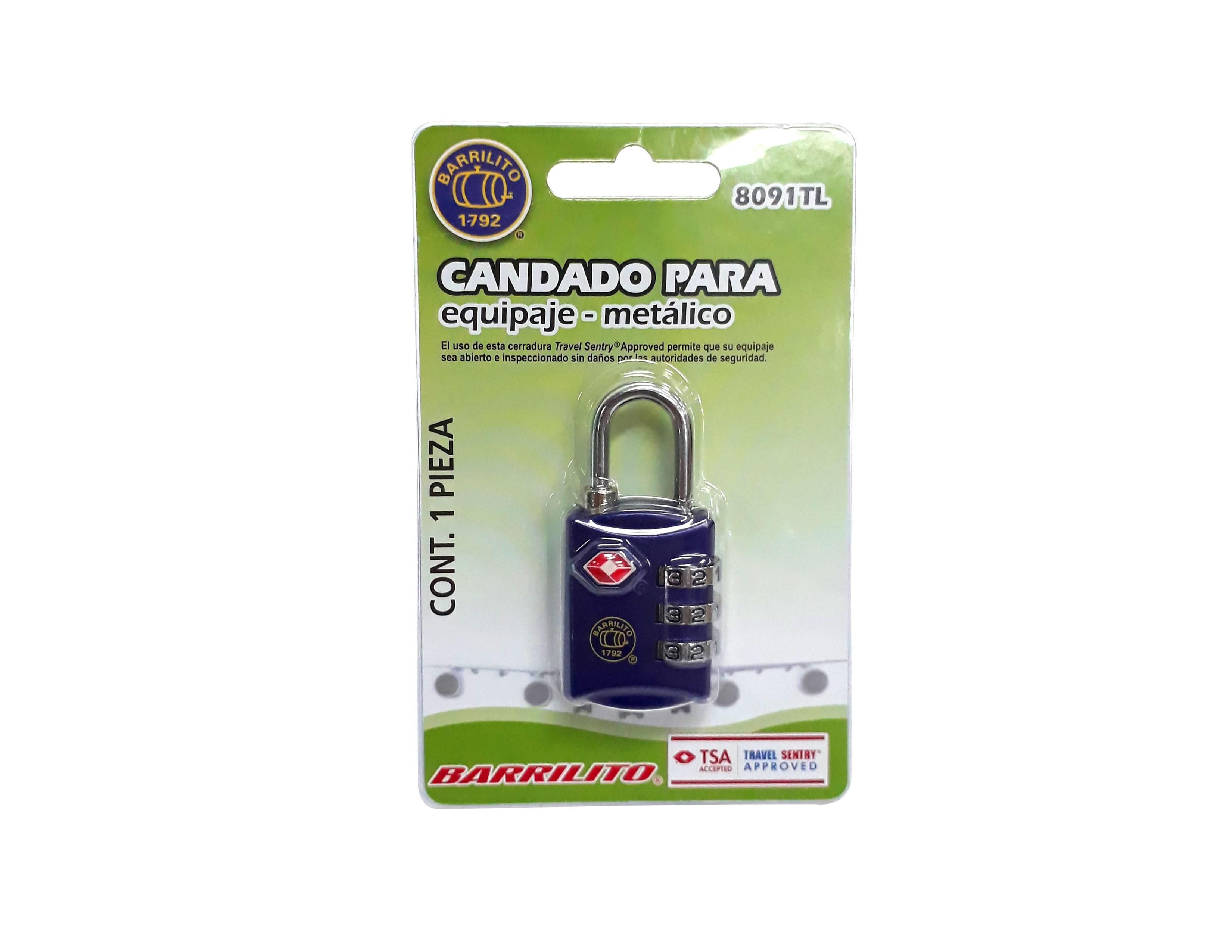 CANDADO P/LOCKER DE COMBINACION 8091TL