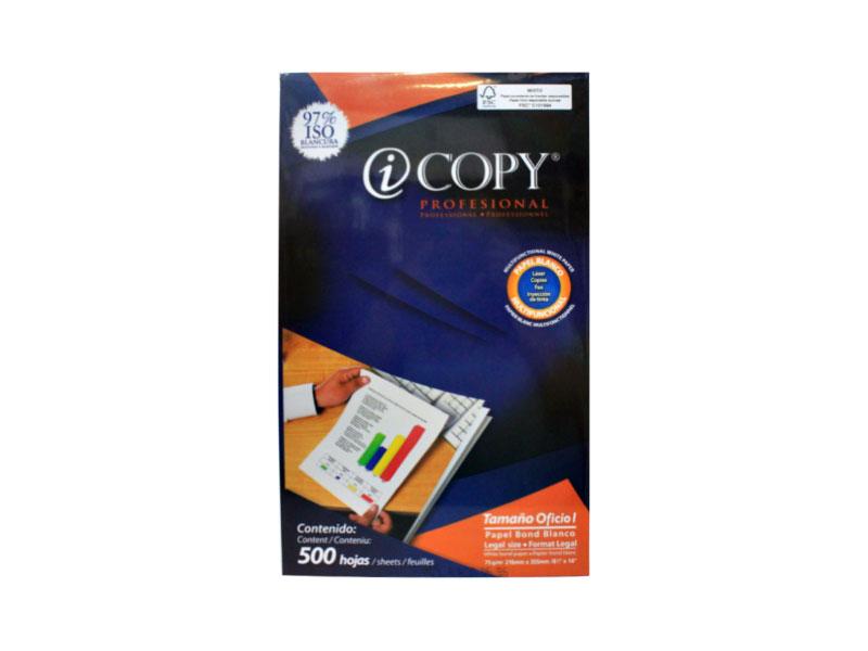 PAPEL BOND 40 T/OFICIO 8.5 X 13 ICOPY