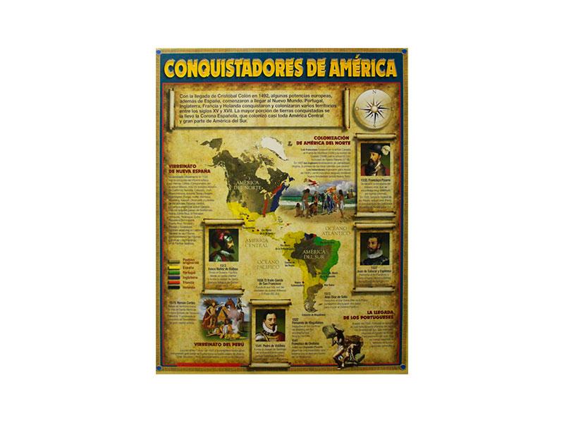 LAMINA CARTON CONQUISTADORES D/AMERICA