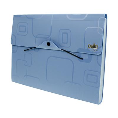 ARCHIVADOR PLASTICO A4 12 DIV. FINE CELESTE