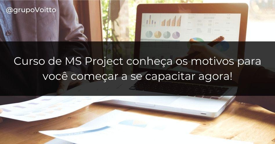 Curso de MS Project: saiba como aumentar sua produtividade