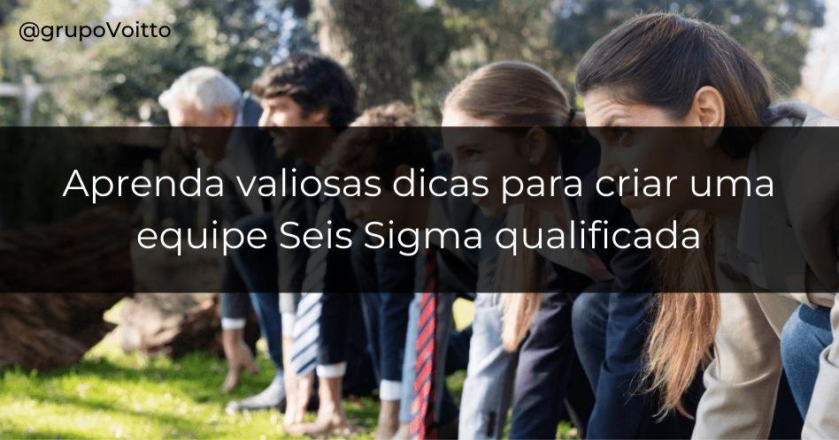 Como criar uma equipe Seis Sigma?