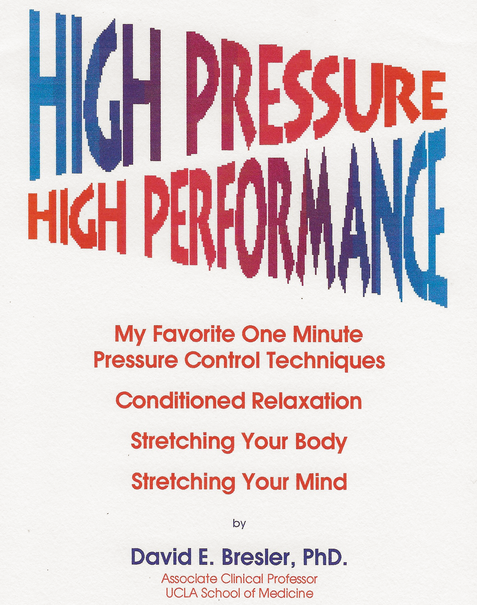 High Pressure High Performance