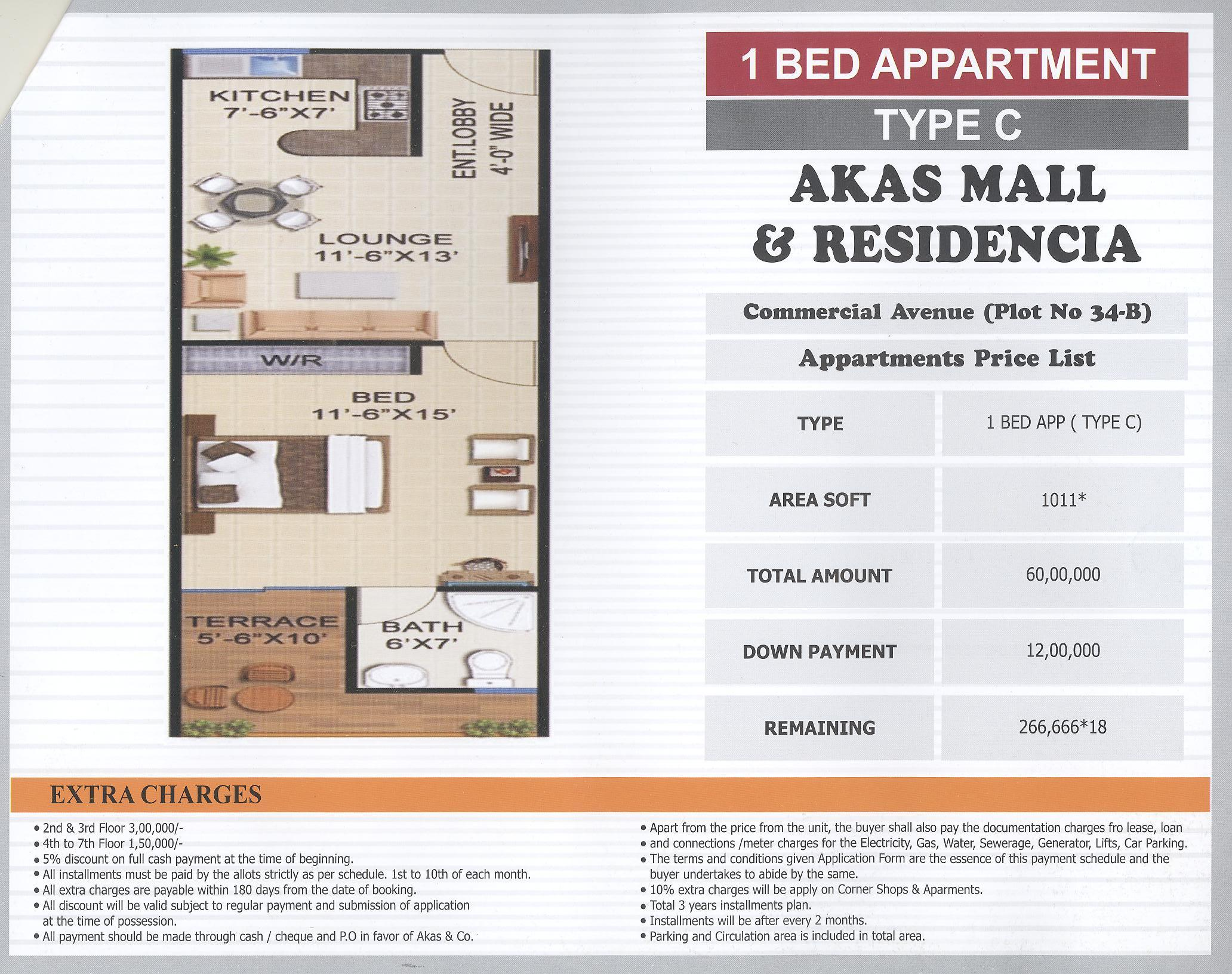 AKAS Mall & Residencia-Payment Plans