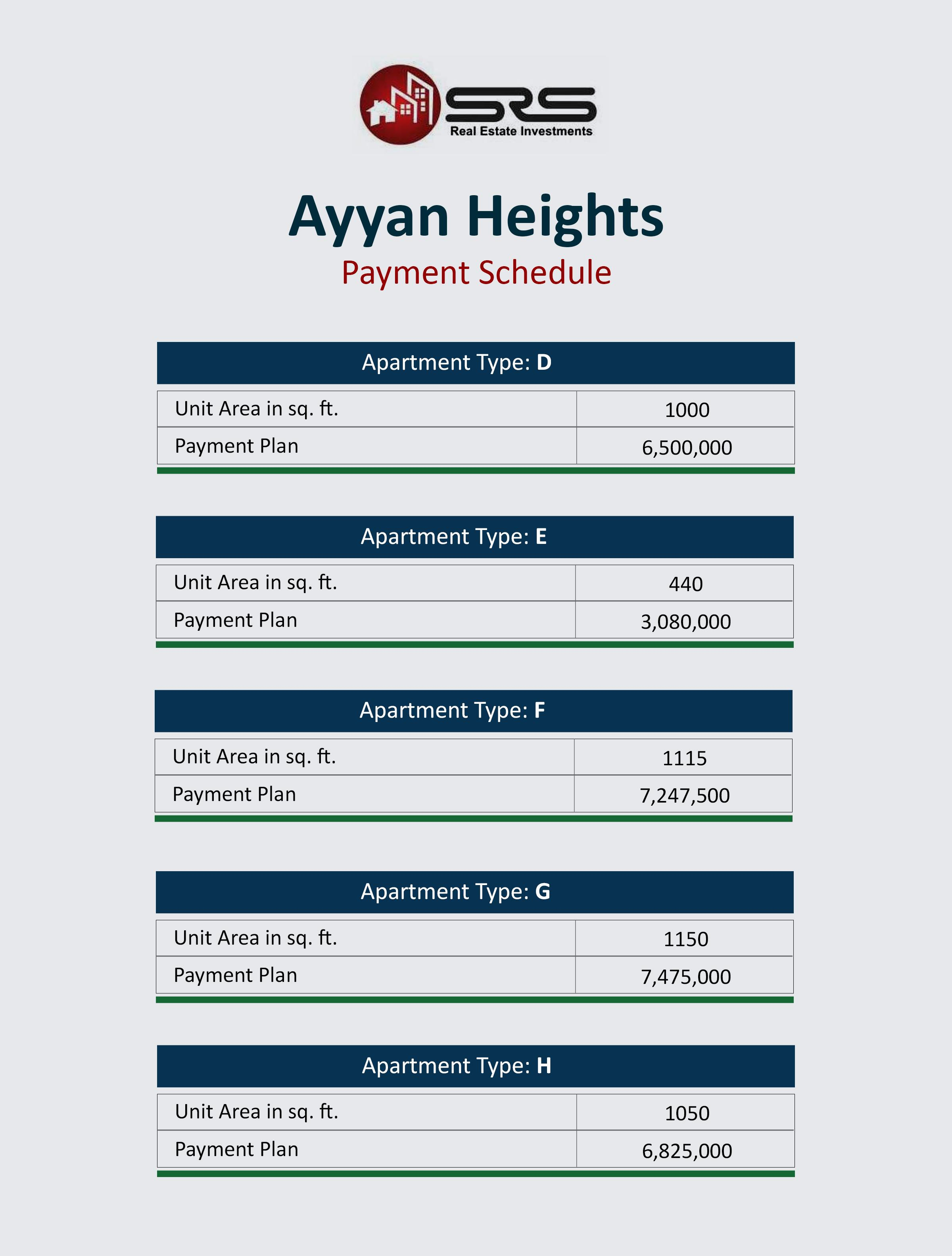 Ayaan Heights-Payment Plans