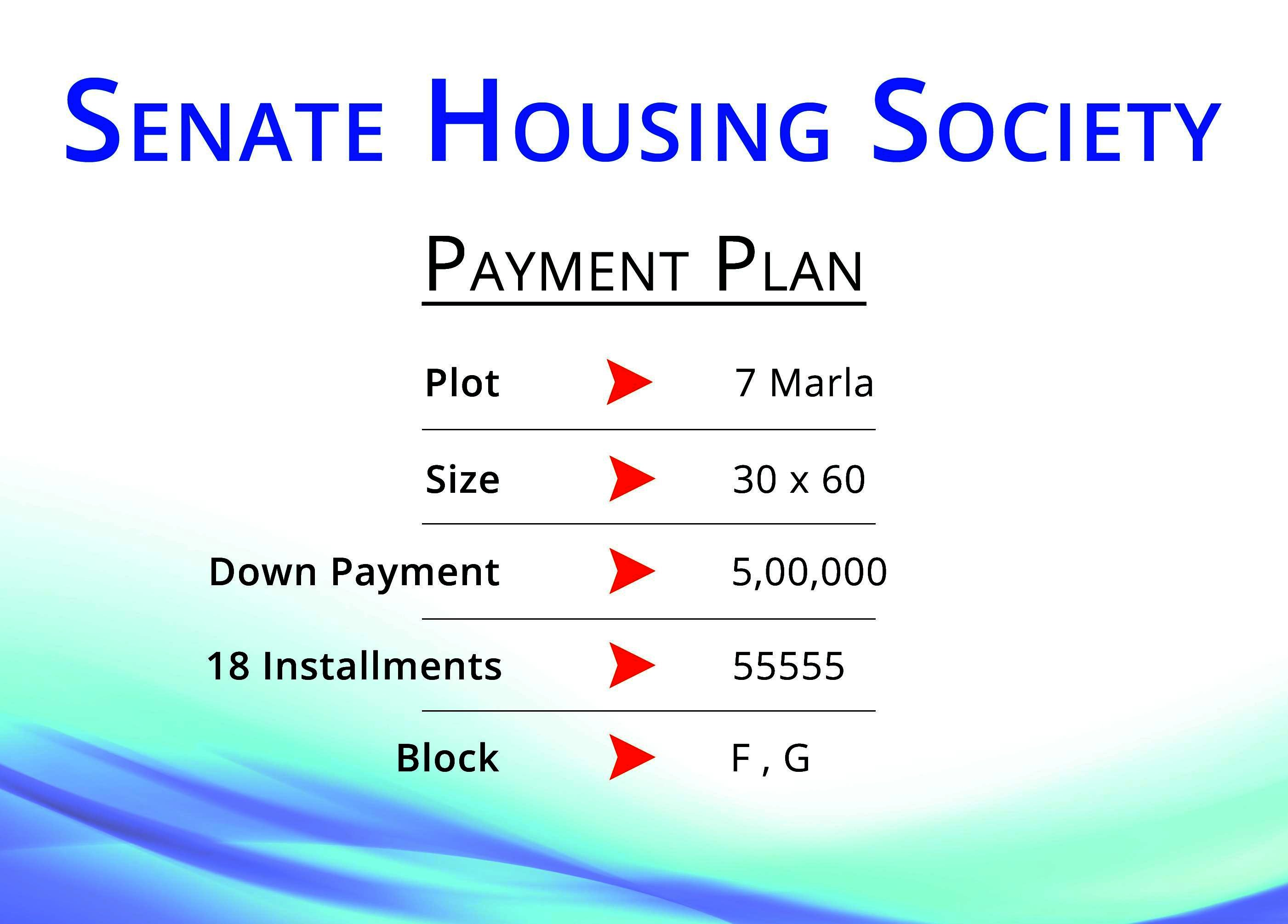 Senate Housing Society-Payment Plans