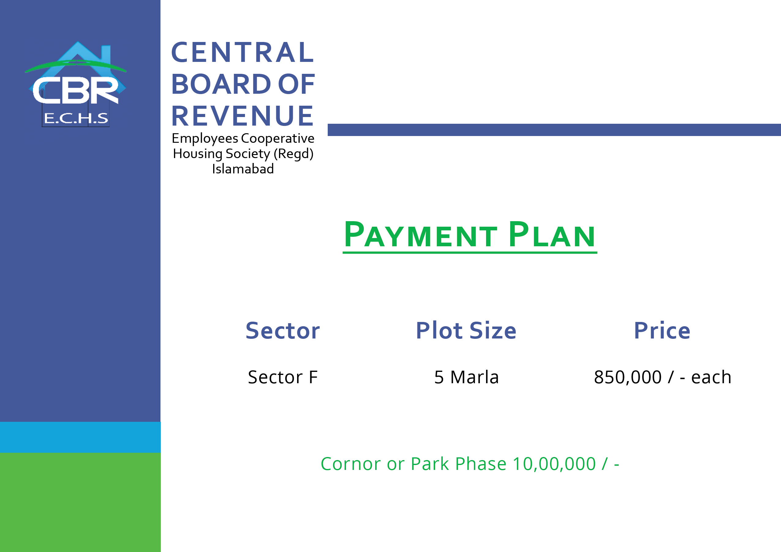 CBR Phase 2-Payment Plans