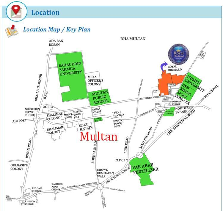 Royal Orchard Multan-Project Maps