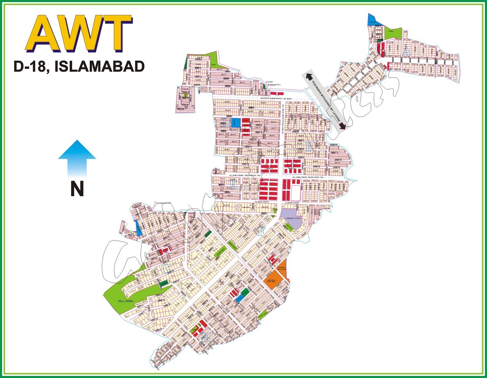 1 Kanal Plot for Sale in D-18, Islamabad - Sun Facing