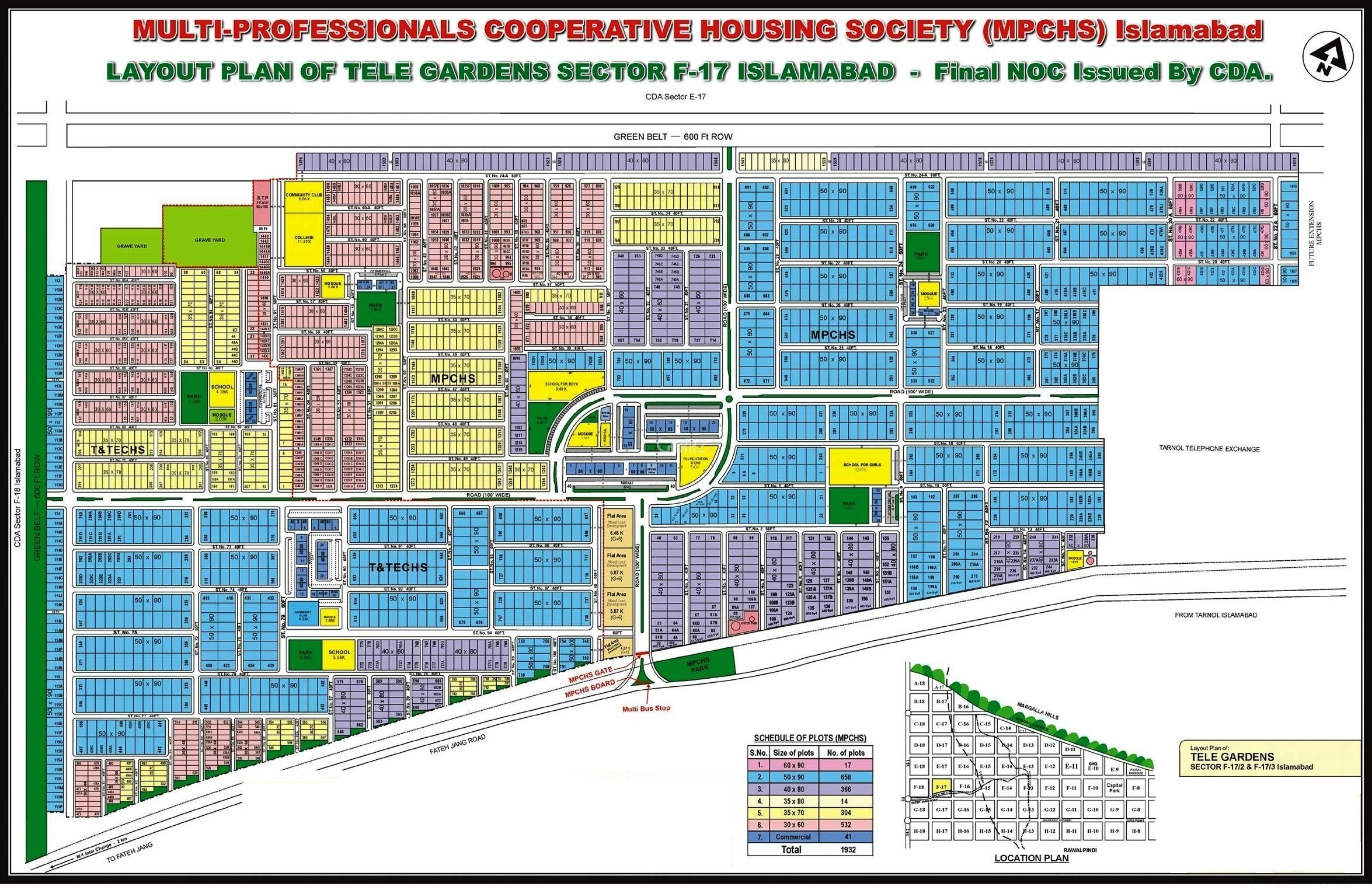 Image result for F 17 Islamabad Map