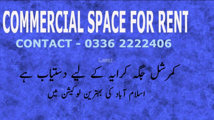 5500 Square Feet Commercial Shop for Rent in Islamabad E-11