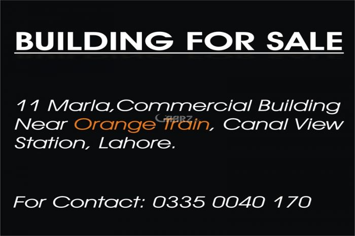 11 Marla Commercial Building for Sale in Lahore Multan Road