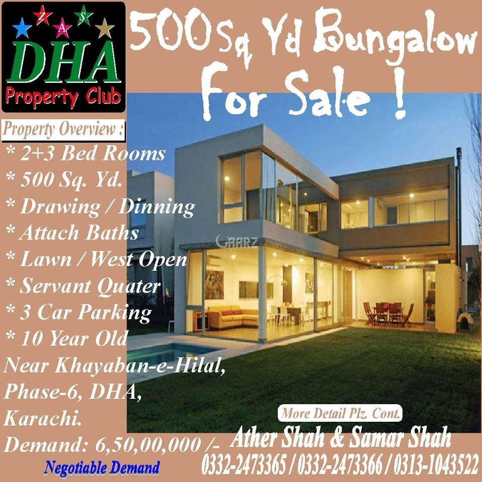 1 Kanal House For Sale In DHA Phase-6