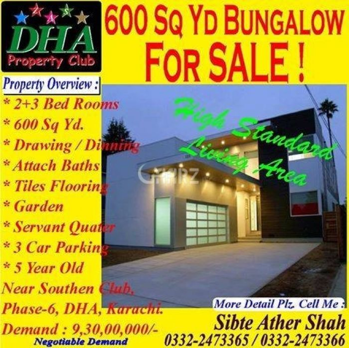 600 Marla House For Sale In DHA Phase-6