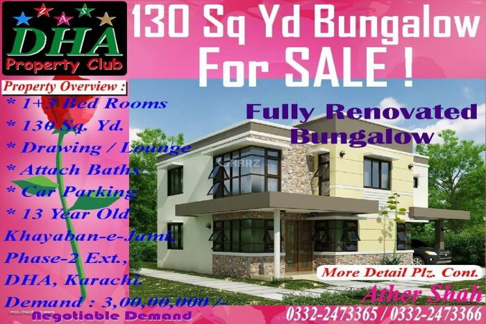 130 Square Yard House for sale in DHA Phase-II