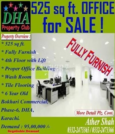 525 Square Feet Office For Sale In DHA-6