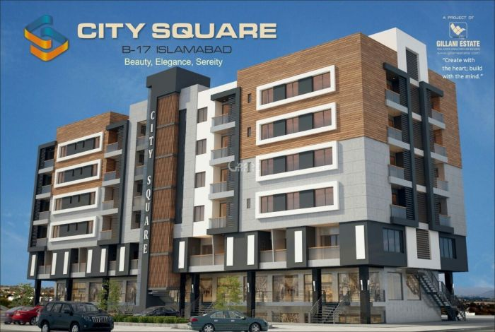 904 Square Feet Flat For Sale In B-17 Multi Gardens