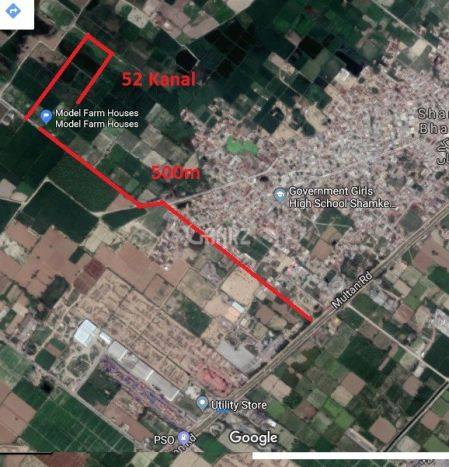 150 Kanal Agricultural Land for Sale in Lahore Multan Road
