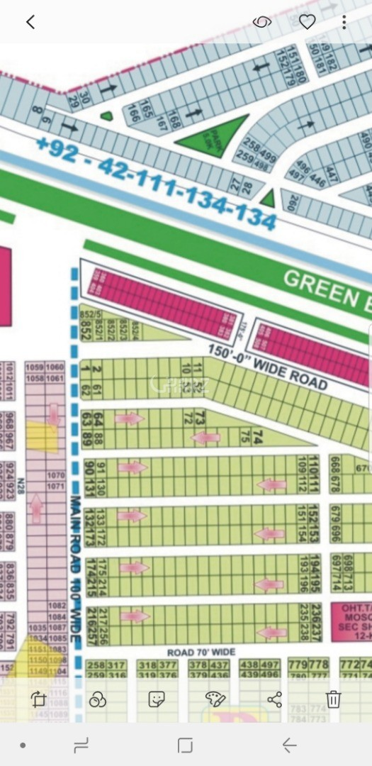 22 Marla Plot for Sale in Lahore DHA Phase-7