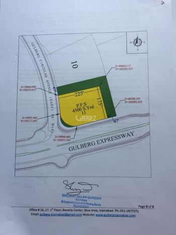 9 Kanal Commercial Land for Sale in Islamabad Block A, Gulberg Residencia