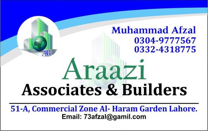 3 Marla Residential Land for Sale in Lahore Al-haram Gardens
