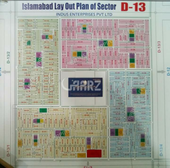 1 Kanal Residential Land for Sale in Islamabad Cda Sector D-13
