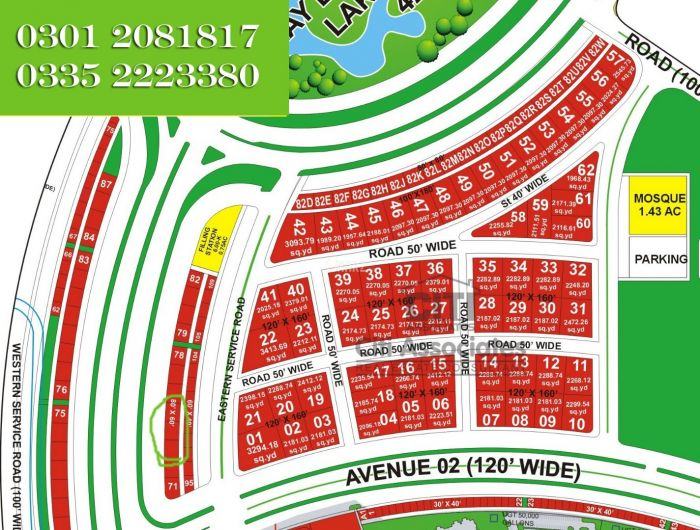 533 Square Yard Commercial Land for Sale in Karachi Bahria Town Precinct-18