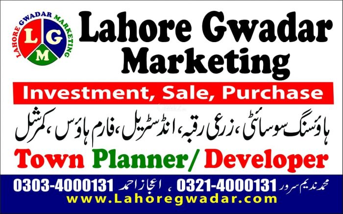 1 Kanal Residential Land for Sale in Lahore Q Block