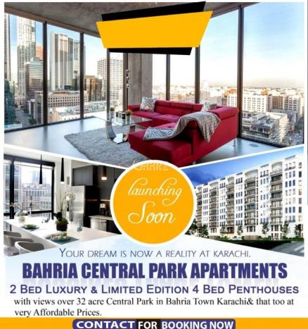 1200 Square Feet Apartment for Sale in Karachi Bahria Town Precinct-19