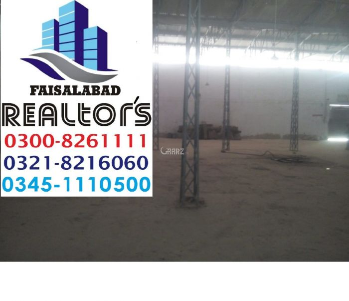 3 Kanal Commercial Factory for Sale in Faisalabad Nawab City