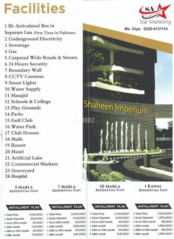 1 Kanal Residential Land for Sale in Islamabad 12-th Avenue