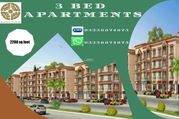 2200 Square Feet Apartment for Sale in Karachi Bahria Apartments