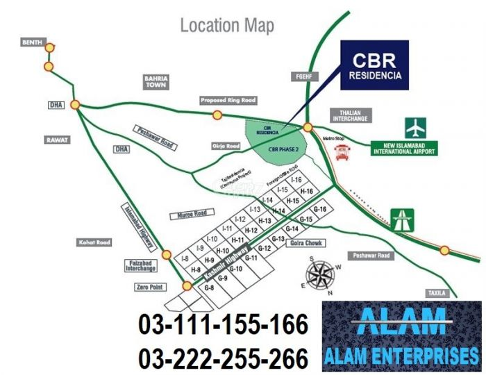 5 Marla Residential Land for Sale in Islamabad Cbr Town Phase-2 Ideal Location Balloted Plots For Sale