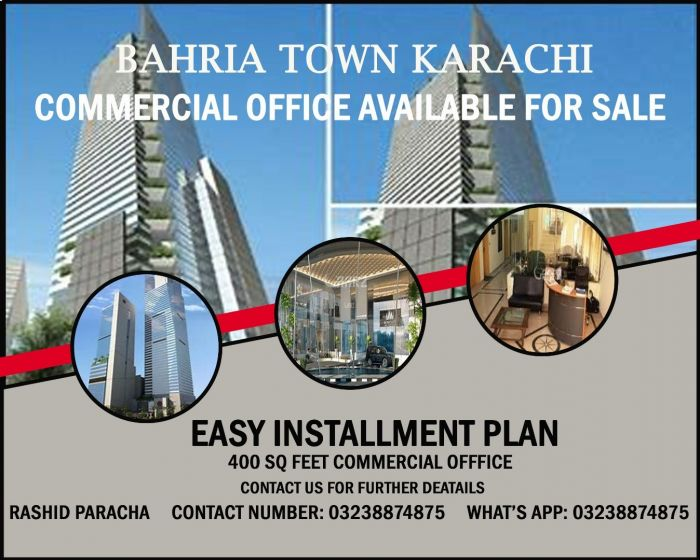 400 Square Feet Commercial Office for Sale in Karachi Bahria Midway Commercial