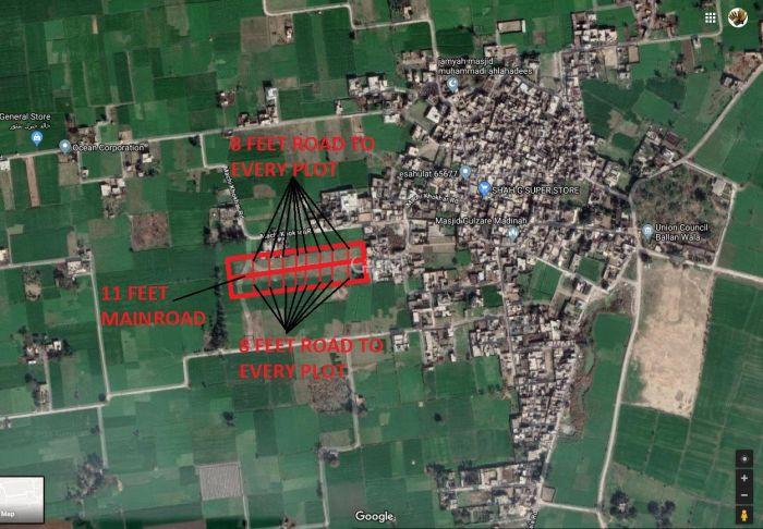 5 Marla Plot for Sale in Sialkot Balan Walla-4 Km From Lari Ada