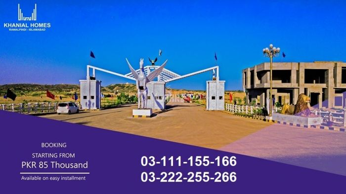 5 Marla Residential Land for Sale in Islamabad Khanial Homes Chakri Road Plots For Sale On Installments By Ambd