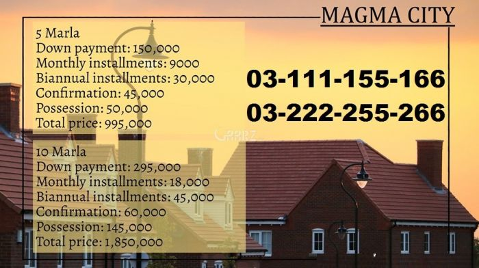 5 Marla Residential Land for Sale in Rawalpindi Magma City Islamabad-5 Marla Plot For Sale On Installments By Ambd