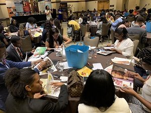 Group of students and graduates at UNCF's 9th annual Student Leadership Conference