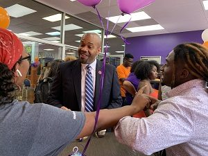 A. Zachary Faison at an Edward Waters College event