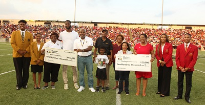 NFL Retired Player Michael Johnson Donates to Parent?s Alma Maters