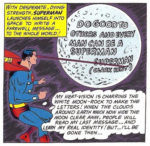 Superman's final message.