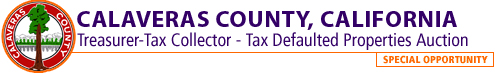 Calaveras County, CA Tax Defaulted Properties