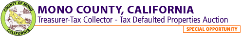 Mono County, CA Tax Defaulted Properties