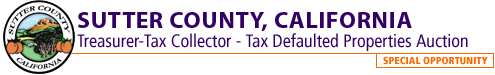 Sutter County Tax Defaulted Properties