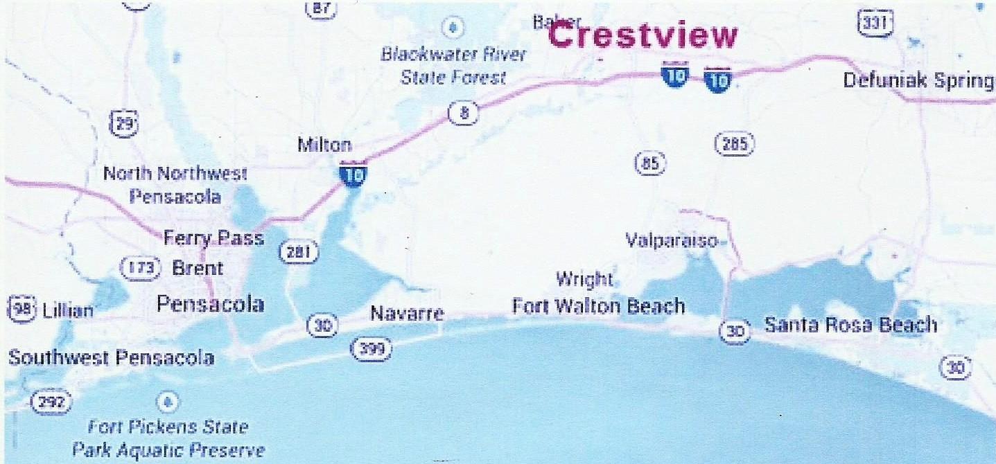 BidAssetscom  Auction Detail   Florida Panhanlle - Florida map crestview