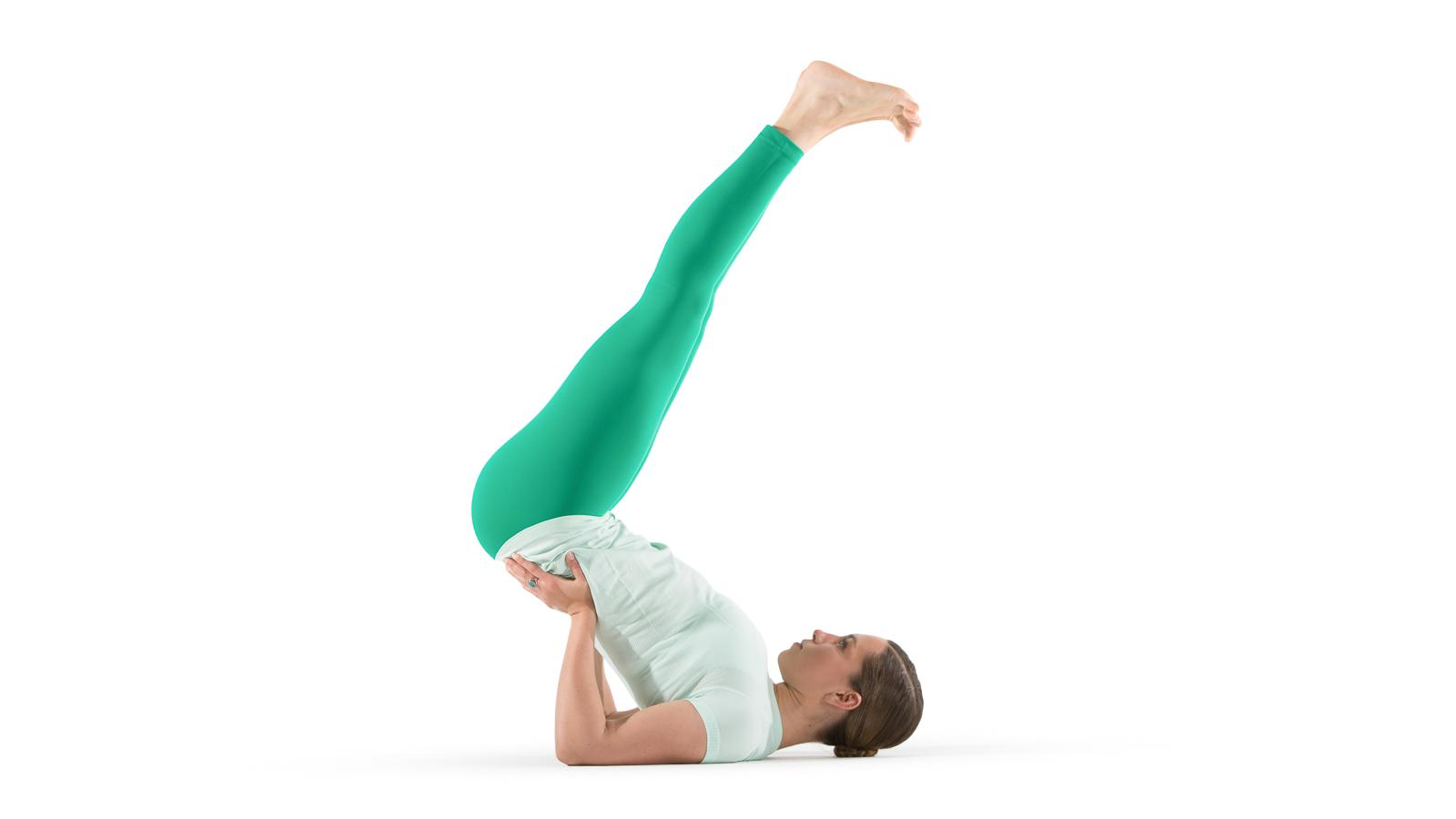 Inverted action pose yoga international