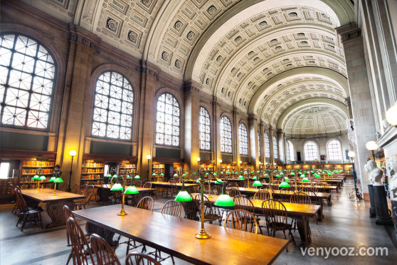 Bates Hall At Boston Central Library Boston Ma Venyooz